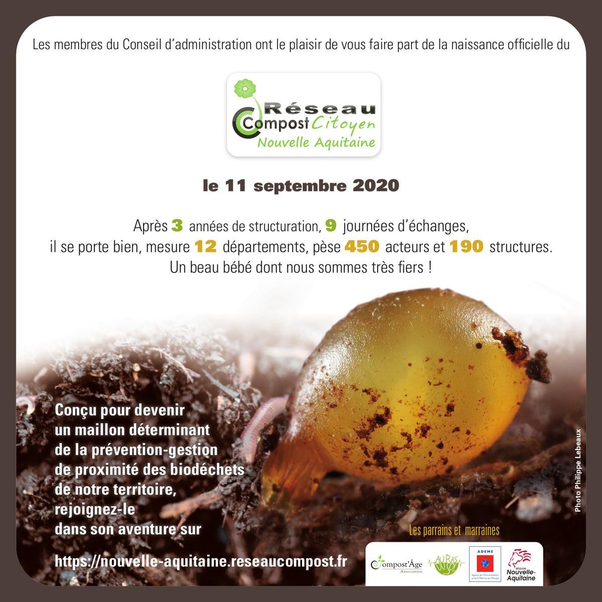 La naissance du Réseau Compost Citoyen Nouvelle-Aquitaine !