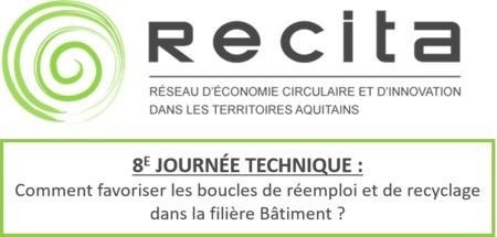 JOURNÉE TECHNIQUE #8 : bâtiment et économie circulaire - 3 Novembre 2020