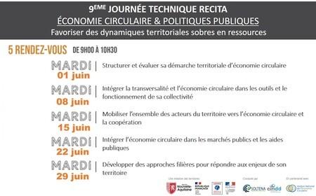 JOURNEE TECHNIQUE #9 // ÉCONOMIE CIRCULAIRE & POLITIQUES PUBLIQUES