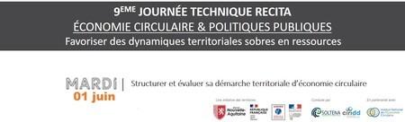Structurer et évaluer sa démarche territoriale d'économie circulaire // WEBINAIRE #1 - JOURNEE TECHNIQUE RECITA