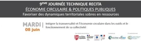 Intégrer la transversalité et l'économie circulaire dans les outils et le fonctionnement de sa collectivité // WEBINAIRE #2 - JOURNEE TECHNIQUE RECITA