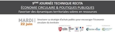 Structurer sa stratégie d'achats publics pour encourager l'économie circulaire du territoire // WEBINAIRE #4 - JOURNEE TECHNIQUE RECITA