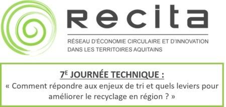 A VOS AGENDAS ! 26 Mai 2020 - 7e Journée Technique RECITA à Bordeaux (33)