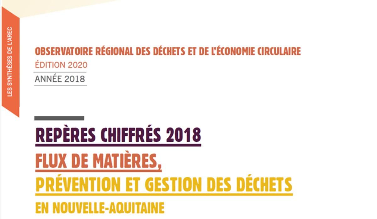 2 publications de l'AREC sur les filières déchets en 2018 en Nouvelle-Aquitaine