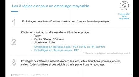 Webinaire : Eco-conception des emballages