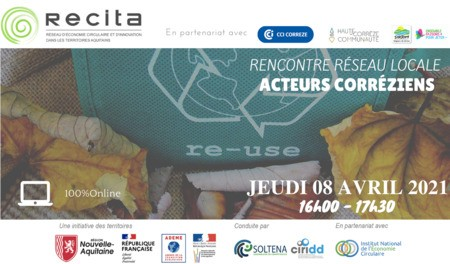 Rencontre Réseau Locale RECITA - Acteurs Corréziens - Jeudi 08 Avril 2021 de 16h00 à 17h30