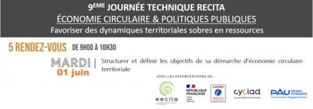 Structurer et définir les objectifs de sa démarche d'économie circulaire territoriale // WEBINAIRE #1 - JOURNEE TECHNIQUE RECITA