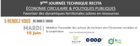 Mobiliser l'ensemble des acteurs du territoire vers l'économie circulaire et la coopération // WEBINAIRE #3 - JOURNEE TECHNIQUE RECITA