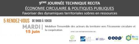 Mobiliser l'ensemble des acteurs du territoire vers l'économie circulaire et la coopération - L'Ecologie Industrielle et Territoriale // WEBINAIRE #3 - JOURNEE TECHNIQUE RECITA
