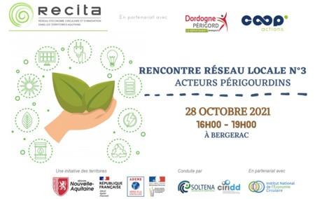 Rencontre Réseau Locale  n°3 RECITA - Bergerac, le jeudi 28 octobre à 16h00