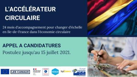 Changez d'échelle grâce à l'Accélérateur de l'économie circulaire / Postulez avant le 15 juillet 2021