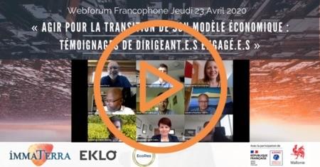 Webforum [enregistrement] « Agir pour une transition de modèle économique : témoignages de dirigeant.e.s »