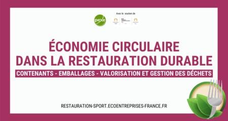 Le PEXE lance l'Annuaire Economie circulaire dans la restauration durable - Référencez-vous !