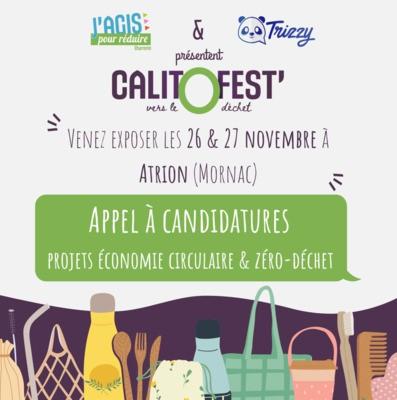 Appel à candidatures CALITO FEST' : Candidatez avant le 15 octobre pour exposer à un festival autour de la réduction des déchets !