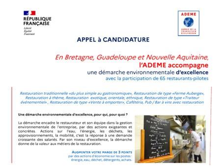 Restaurateurs, candidatez avant le 1er décembre 2021 et intégrez un parcours d'accompagnement de l'ADEME pour une démarche environnementale d'excellence !